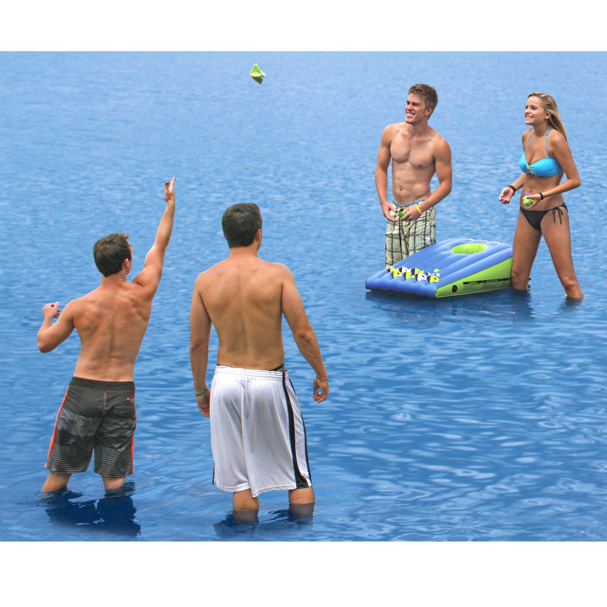 Airhead Blast Water Tube Tow Harness Lob The Blob Inflatable Corn Hole Game